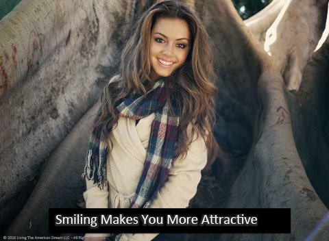 Happy people are more attractive.