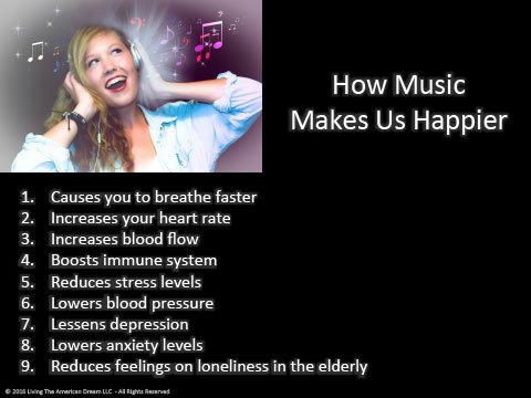 How music makes us happier.