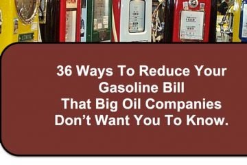 How to save on gas 36 ways.