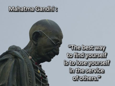 Mahatma Gandhi on serving others.