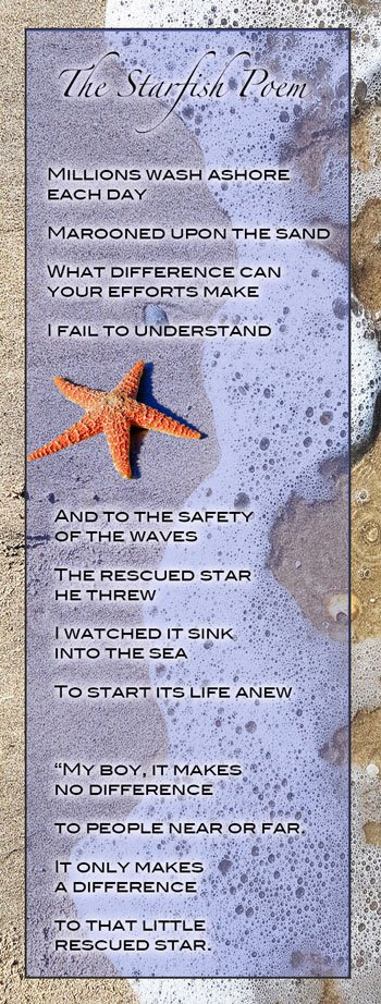 The Starfish Poem