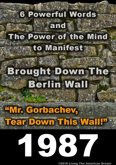 How to manifest the power of the mind: Berlin Wall