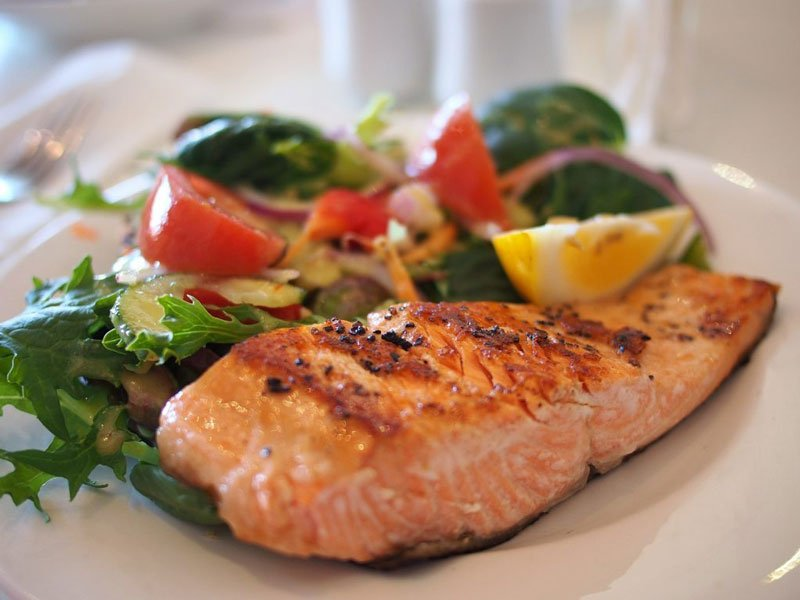 Fish is low carb meal and on the ketogenic diet food list.